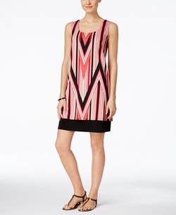 NY Collection  - Sleeveless Printed Shift Dress