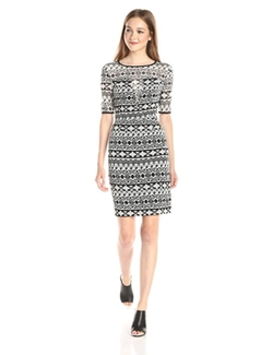 Black Halo - Weston Tribal Print Sheath Dress