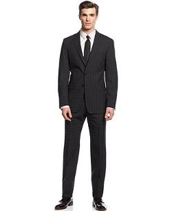 Calvin Klein  - Black Check Slim X Fit Suit