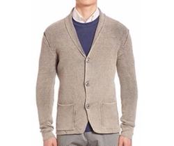 Sand - Brosby Knit-Wool Cardigan