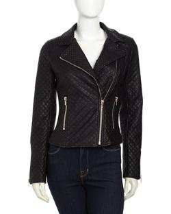 Love Token - Quilted Faux-Leather Jacket
