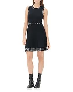 Sandro  - Reffy Grommet Trim Dress