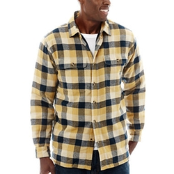 Stanley - Cotton Flannel Button-Front Shirt