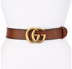 Gucci - Leather Logo-Buckle Belt
