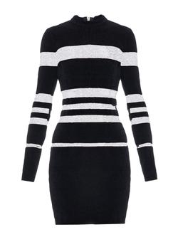 Balmain - Striped Chenille Mini Dress