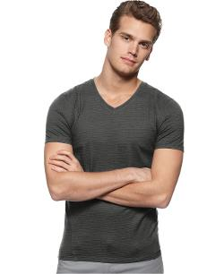 Calvin Klein. - Core Slim Fit V Neck Slub Tee
