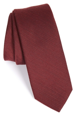 The Tie Bar - Solid Wool & Silk Tie