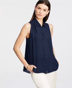 Ann Taylor - Flyaway Button Down Shirt