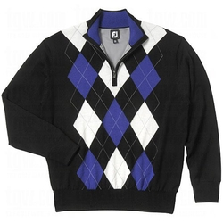 FootJoy  - Performance Half-Zip Argyle Sweater