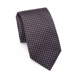Saks Fifth Avenue Collection  - Polka Dot Silk Tie