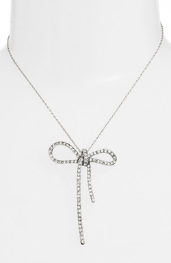 Marc Jacobs  - Crystal Bow Pendant Necklace