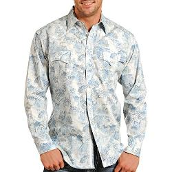 Panhandle - Slim Paisley Retro Print Shirt