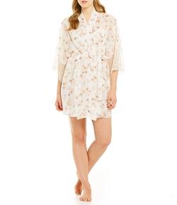 Flora Nikrooz  - Camilla Floral Chiffon Kimono Robe