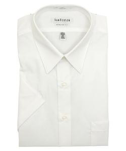Van Heusen - Wrinkle Free Poplin Short Sleeve Dress Shirt