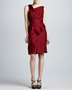 J. Mendel   - Asymmetric Raw-Edge Organza Dress