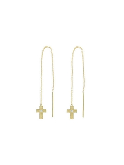 Tate - Thread Through Cross Earrings