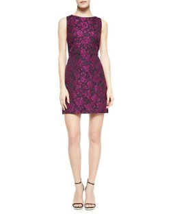 Alice + Olivia  - Eli Floral-Jacquard Sleeveless Dress