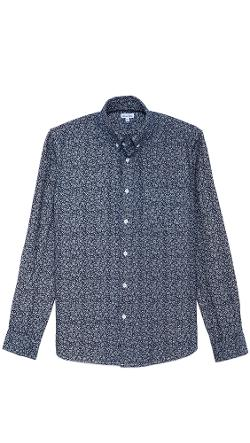 Club Monaco - Slim-Fit Mini Floral Shirt