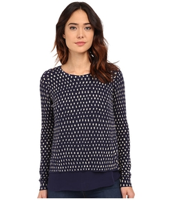 Lucky Brand  - Polka Dot Printed Pullover Sweater