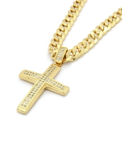 L & L Nation - Cross Pendant Hip-Hop Cuban Necklace