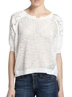 Rebecca Taylor  - Knit Patchwork Top