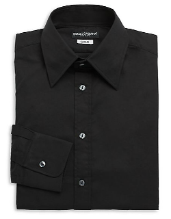 Dolce & Gabbana - Stretch Cotton Woven Dress Shirt