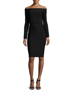 Herve Leger - Tiered Off-The-Shoulder Dress