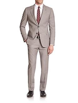 Armani Collezioni - Two-Button Check Wool Suit