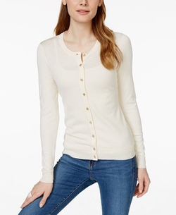 Charter Club - Charter Club Petite Textured Cardigan