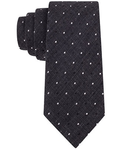 Calvin Klein  - Heather Plaid Dot Skinny Tie