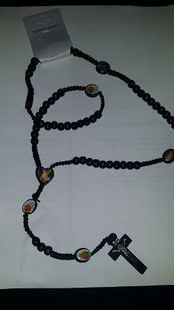 Star Accessories - Wood Rosary Necklace