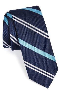 1901 - Deauville Stripe Woven Silk Tie