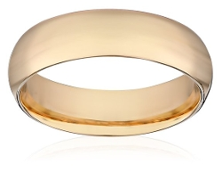 Amazon Collection - Gold  Plain Wedding Band Ring