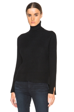 Frame Denim - Cashmere Slit Turtleneck Sweater
