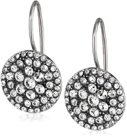 Fossil - Glitz Disc Silver Earrings