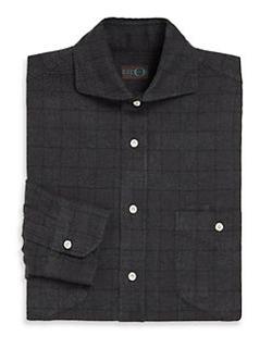 Eidos  - Tonal Check-Print Shirt