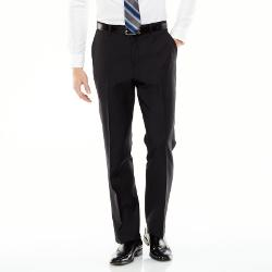 Marc Anthony  - Slim-Fit Wool Flat-Front Suit Pants