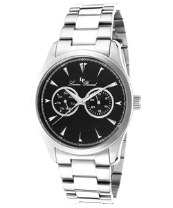 Lucien Piccard  - Stellar Stainless Steel Black Dial Watch