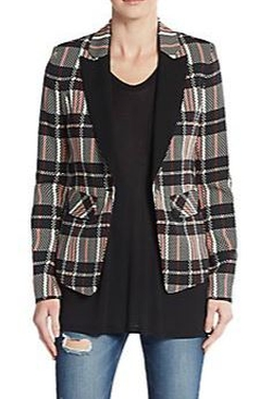 1.State  - Digital Plaid Blazer