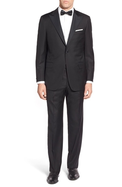Hickey Freeman  - Traveler Classic Fit Wool Tuxedo