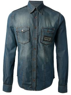 Philipp Plein - Faded Denim Shirt