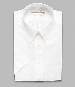 Gold Label Roundtree & Yorke  - Regular Fit Short-Sleeve Button-Down Collar Dress Shirt