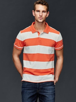 Gap - Rugby Stripe Pique Polo Shirt