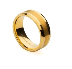 Tungsten Carbide Rings - Gold Plated Wedding Band Ring