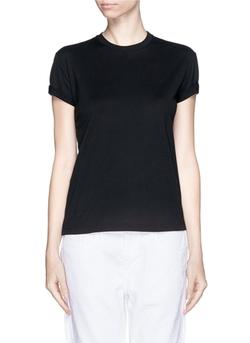 T By Alexander Wang - Roll Cuff Superfine Cotton T-Shirt