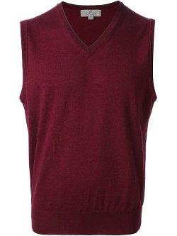 Canali - Knitted V-neck Vest