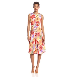 Julian Taylor - Sleeveless Floral Printed 2 Piece Dress