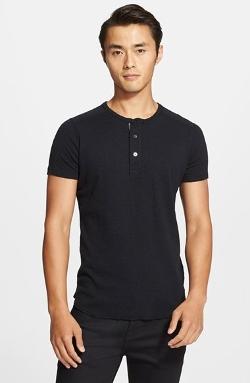 Wings + Horns  - Slub Short Sleeve Henley Shirt