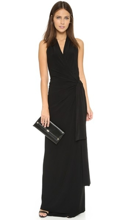 Norma Kamali - Halter Wrap Maxi Dress
