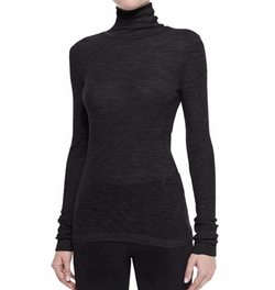 T By Alexander Wang - Sheer Wooly Ribbed Turtleneck Pullover